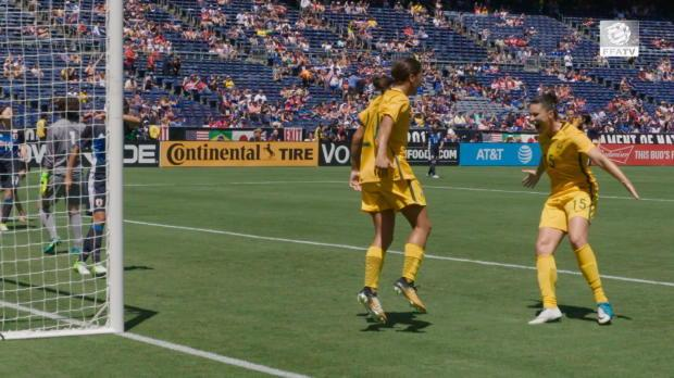 Kerr on her maiden Matildas hat-trick