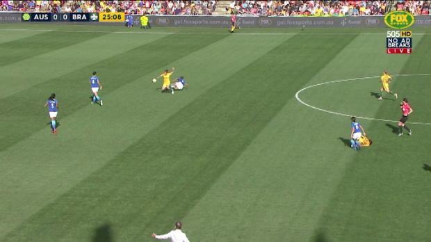 Matildas v Brazil highlights