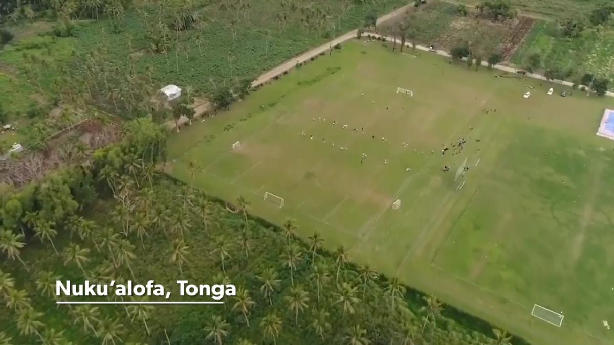 The Westfield Junior Matildas hold unique joint training session with the Tonga U19s
