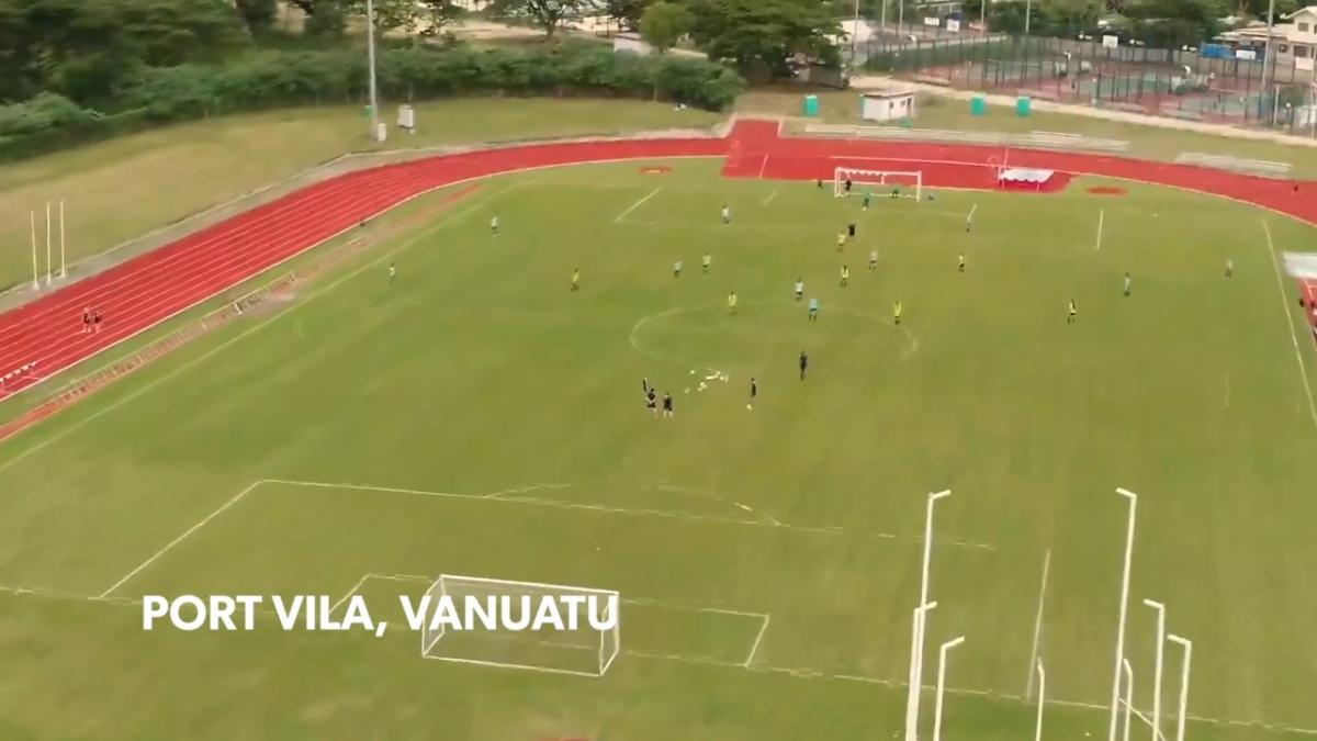 Westfield Junior Matildas complete first session in Vanuatu