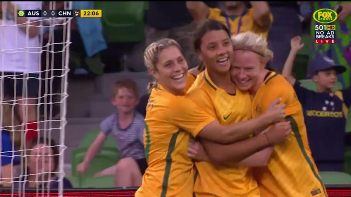 Kerr gives Matildas the lead