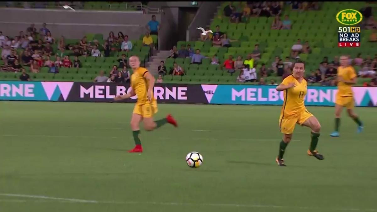 Kerr's sensational double leads Matildas to victory