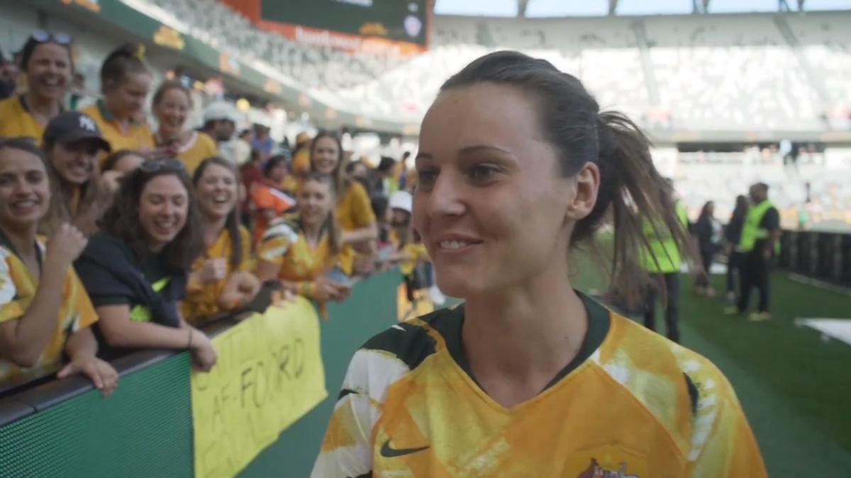 Hayley Raso:  we love playing at home