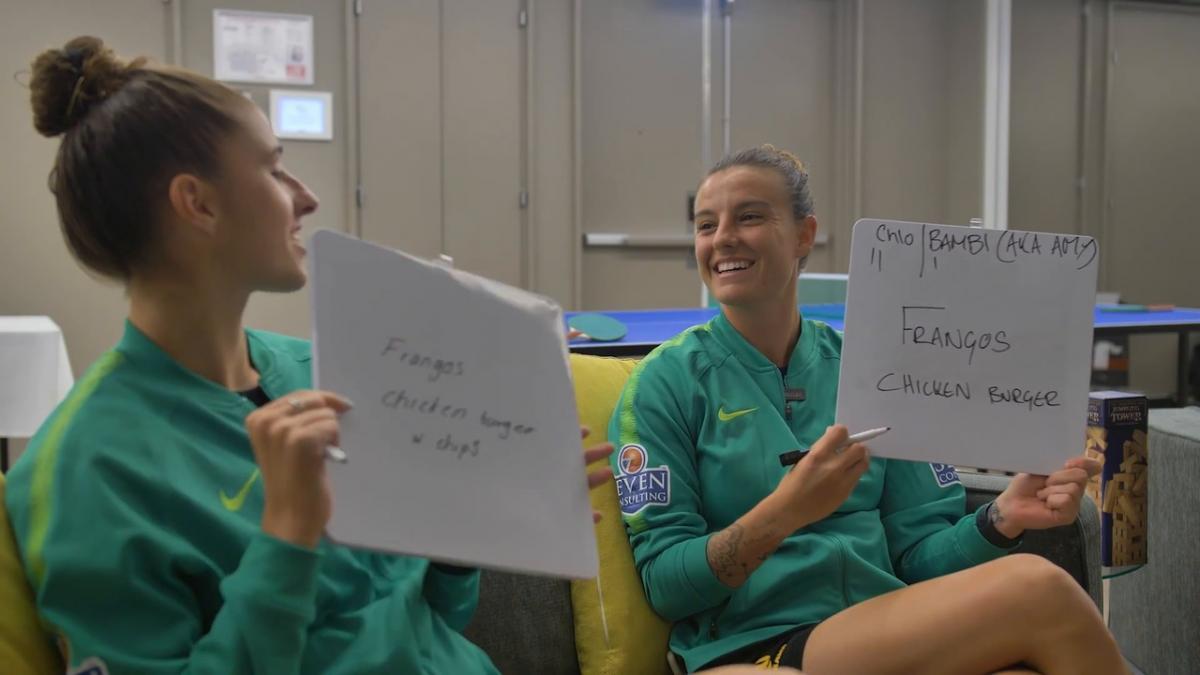 Team mates challenge: Chloe Logarzo and Amy Harrison