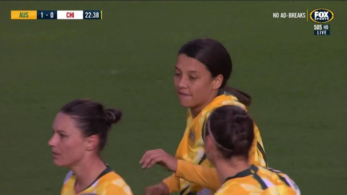 GOAL: Gielnik - Matildas take the lead against Chile