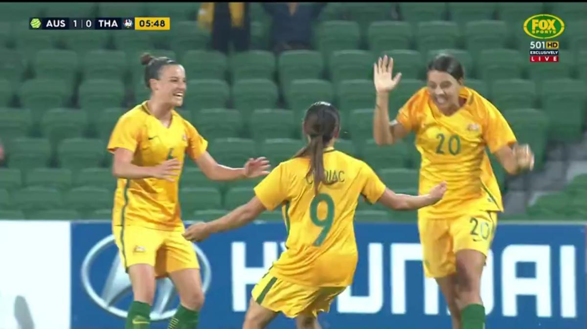 Chidiac scores first Matildas goal