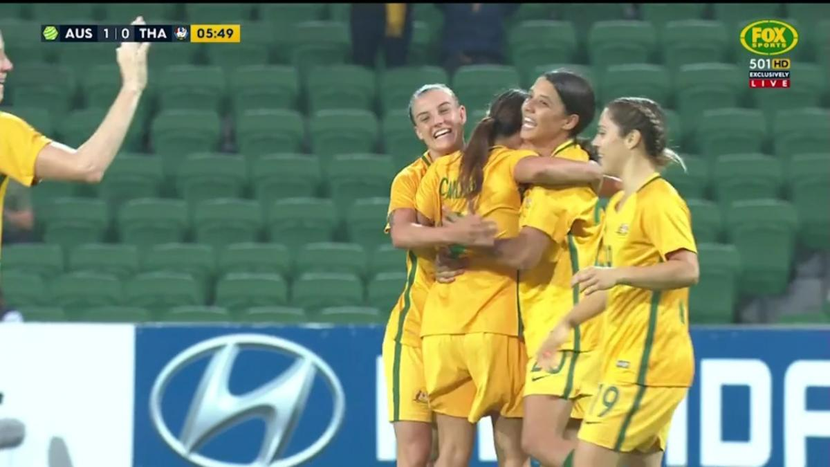 Full-time highlights: Australia 5-0 Thailand