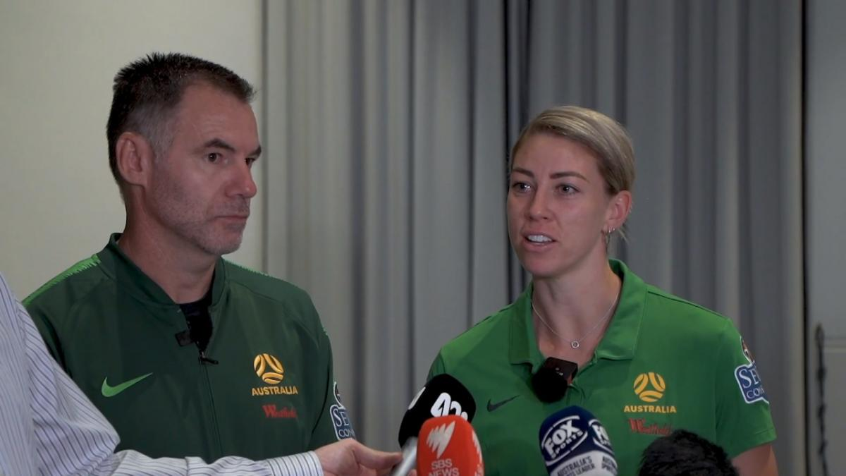 Pre-match press conference vs Chinese Taipei - Ante Milicic & Alanna Kennedy