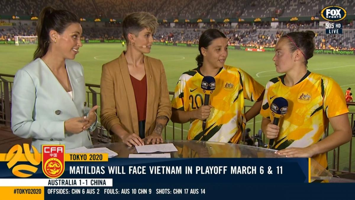 Sam Kerr and Caitlin Foord | Interview | Olympic Qualifier