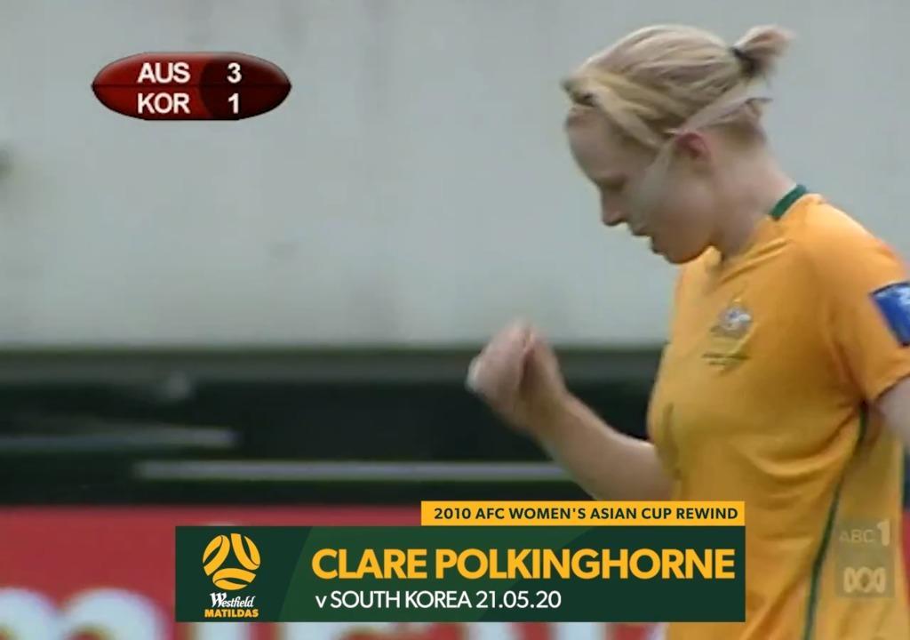 2010 Asian Cup AUS v KOR - Clare Polkinghorne