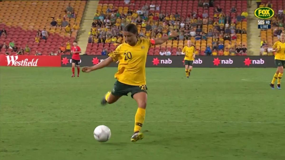 Sam Kerr gets second against Korea Republic