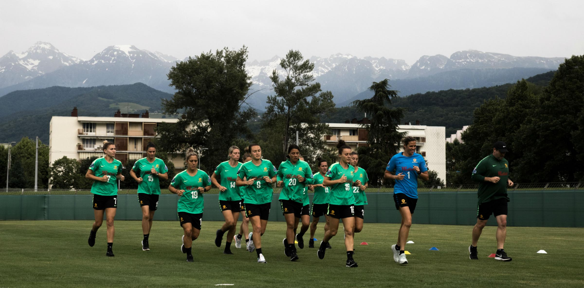Matildas Grenoble training