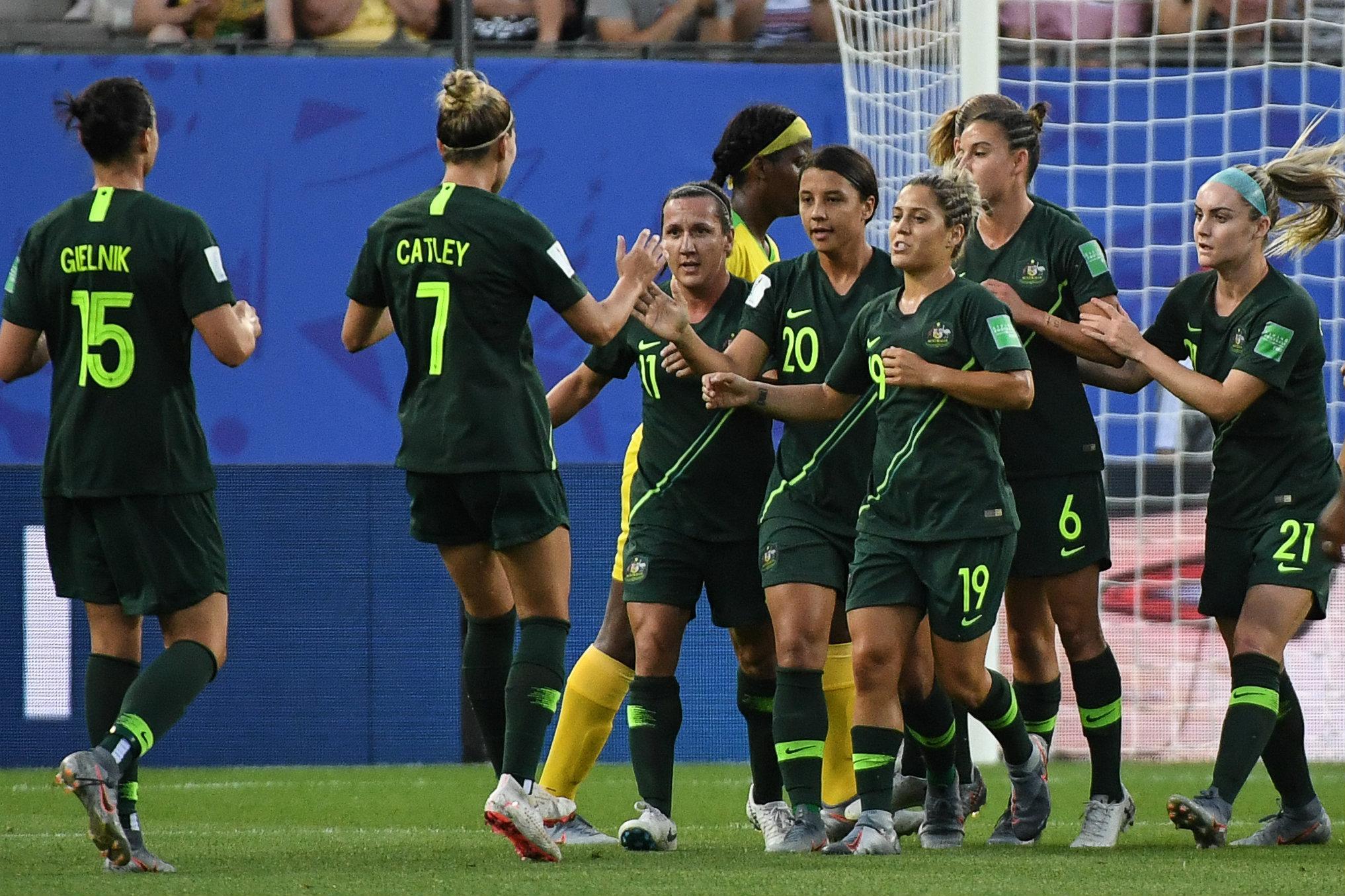 Matildas celebrate