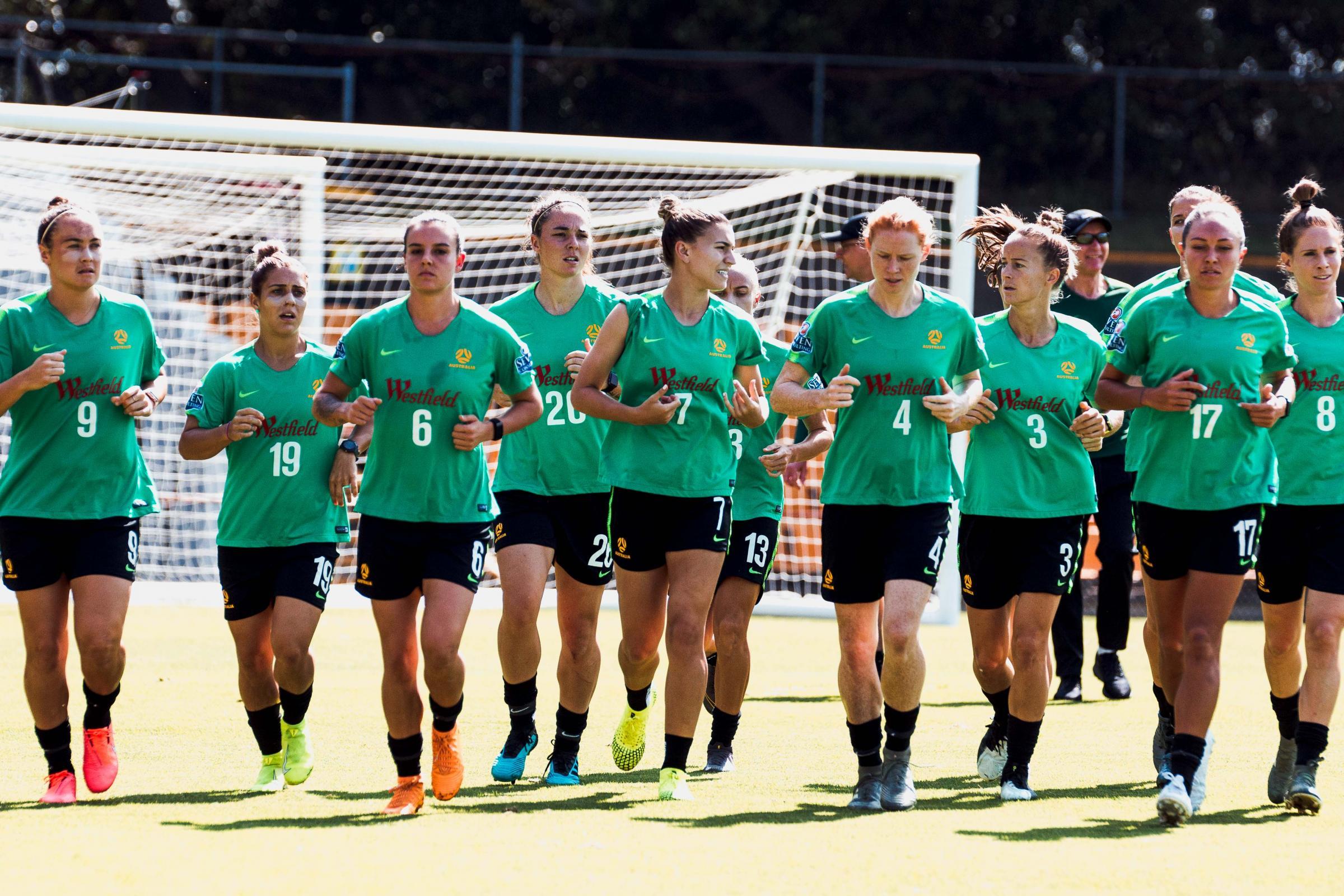 Westfield Matildas training camp in Sydney