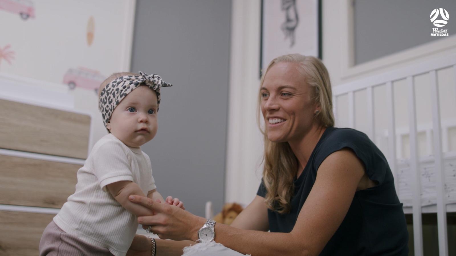 Tameka Yallop with daughter Harley