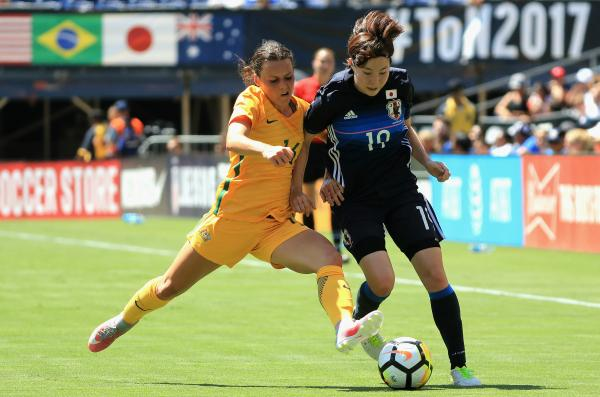 Hayley Raso in action for the Westfield Matildas.