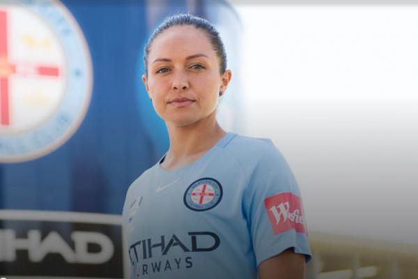 Kyah Simon will play with Melbourne City in the Westfield W-League.