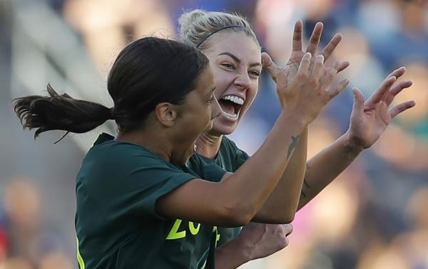 Alanna Kennedy and Sam Kerr