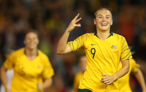 Report: Foord nets hat-trick as Westfield Matildas cruise past Chile