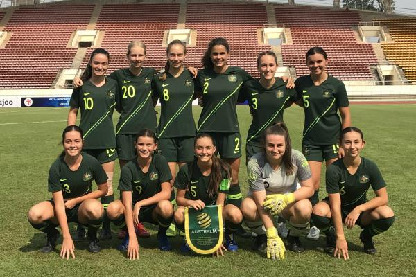 Westfield Junior Matildas starting XI v Vietnam