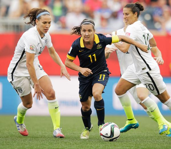 Lisa De Vanna for Australia against USA at World Cup 2015