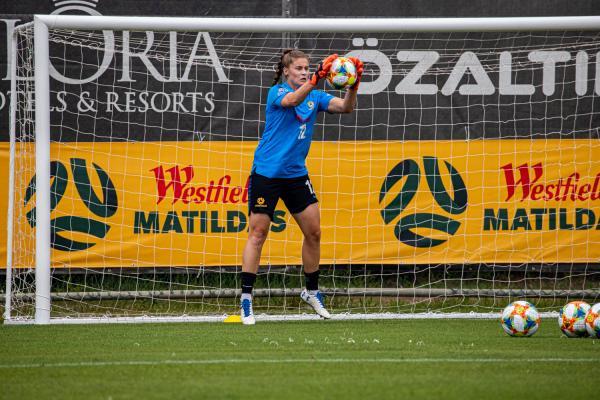 Teagan Micah in training for Westfield Matildas ahead of FIFA Women's World Cup 2019