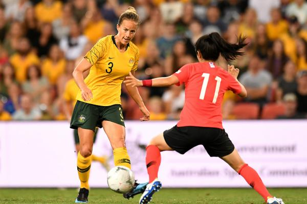 Aivi Luik in action against Korea Republic at this year's Cup of Nations tournament