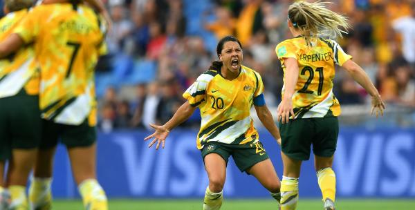 Sam Kerr against Brazil