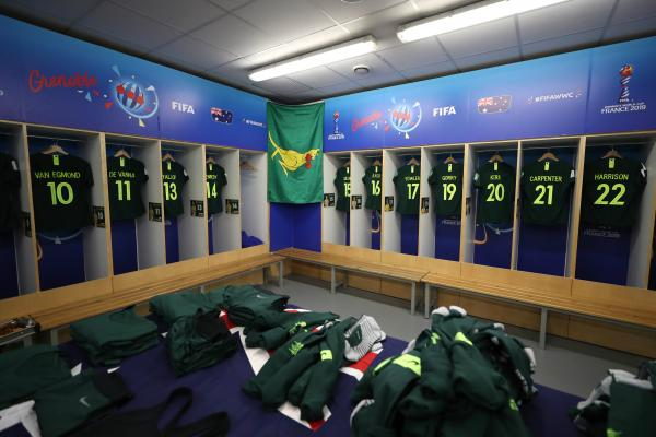 Matildas dressing room