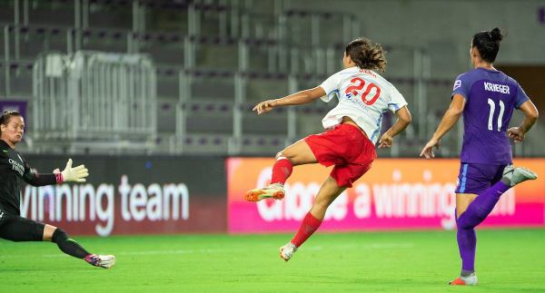 Kerr was denied - but ultimately had the last laugh in this morning's NWSL clash