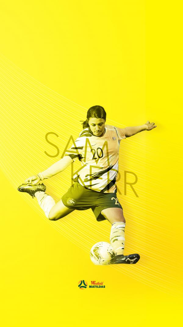Sam Kerr mobile wallpaper