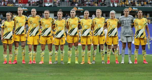 Westfield Matildas anthem v China