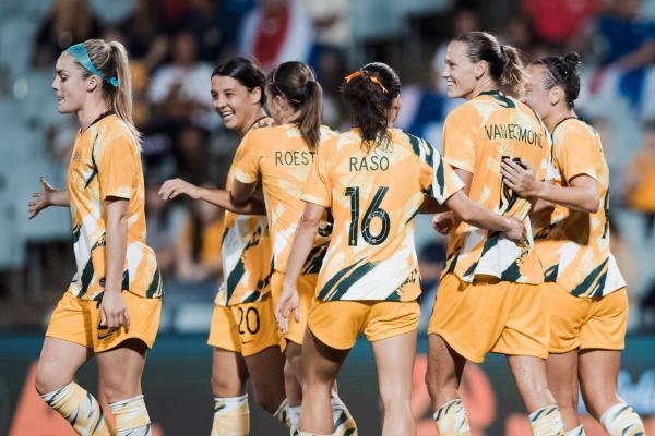 Westfield Matildas celebrate a goal