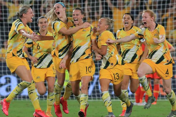 Westfield Matildas celebrate van Egmond's late goal