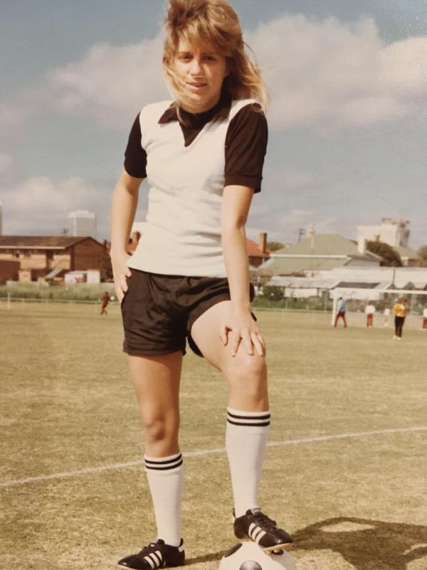 Karen Menzies as a young footballer