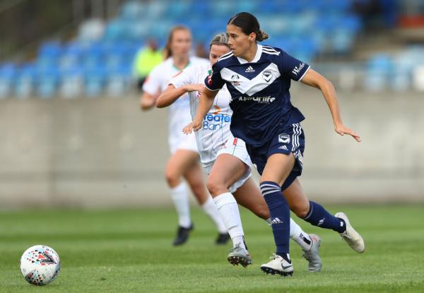 Kyra Cooney-Cross on the ball for Melbourne Victory