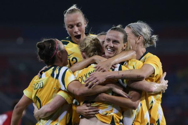 Westfield Matildas celebrate