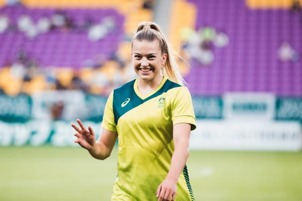 Charlotte Grant warming up in Japan
