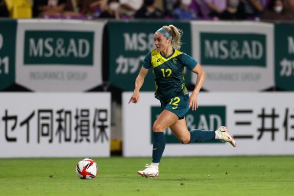 Ellie Carpenter against Japan before the Olympics