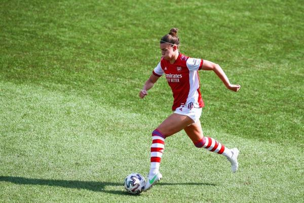 Steph Catley in the UWCL