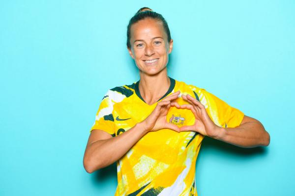 VALENCIENNES, FRANCE - JUNE 06: Aivi Luik of Australia poses for a portrait during the official FIFA Women's World Cup 2019 portrait session at Royal Hainaut Spa & Resort Hotel on June 06, 2019 in Valenciennes, France. (Photo by Matthias Hangst - FIFA/FIFA via Getty Images)