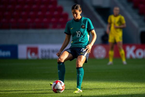Kyra Cooney-Cross in game against Sweden, June 2021