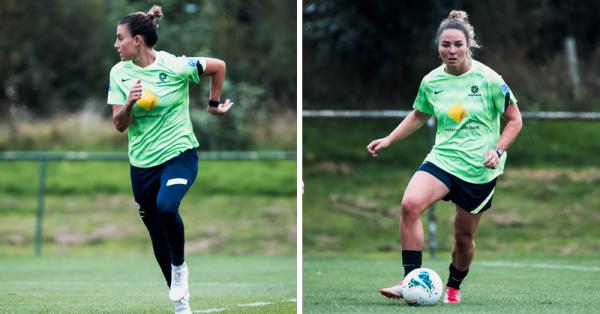 Chloe Logarzo and Jenna McCormick in camp, September 2021