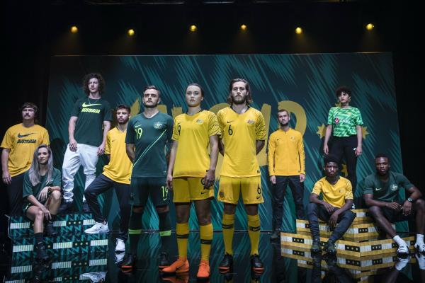 5556bb8e0 In pictures  new kits for Westfield Matildas and Caltex Socceroos