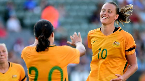 Emily Van Egmond says the Westfield Matildas are relishing the opportunity to showcase their 'exciting' brand of football.