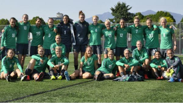 The Westfield Matildas squad in Canada for the FIFA Women's World Cup.