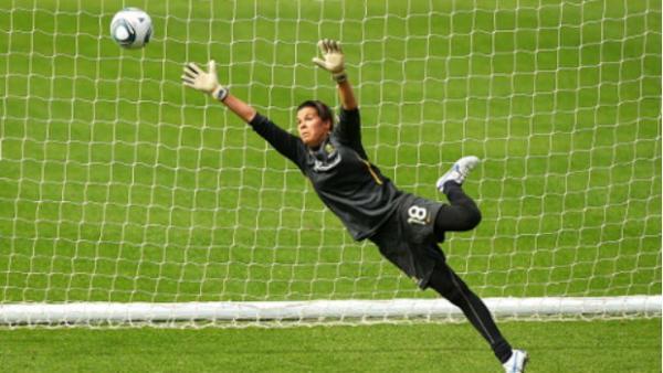 Westfield Matildas goalkeeper Lydia Williams.