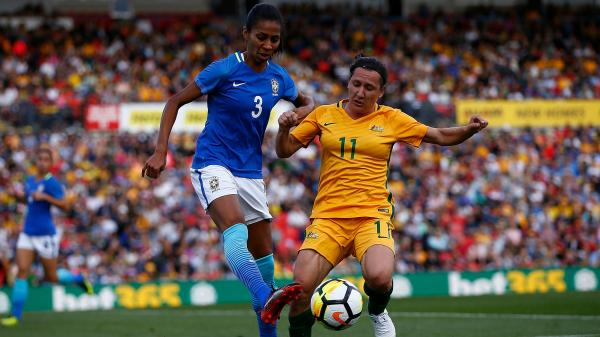 Westfield Matildas star Lisa De Vanna again looms as a key player in Tuesday night's second match against Brazil in Newcastle.