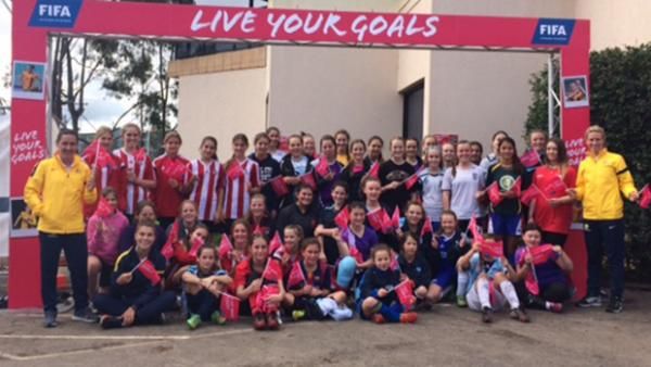 Participants in today's 'Live Your Goals' event in Sydney.