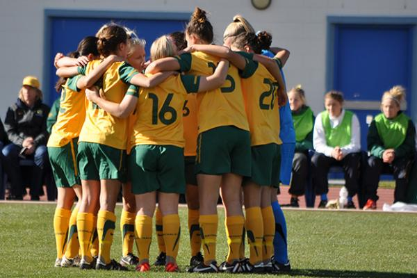 Mini Matildas warm-up a raging success